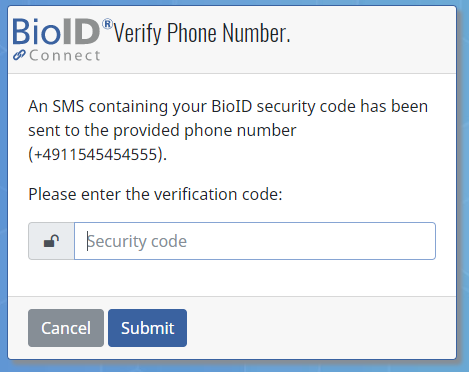 How can I add or change my mobile number? - BioID Knowledge Space